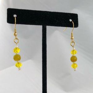 Handmade glass bead earrings